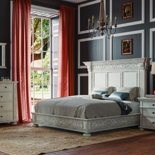 Charleston Queen Bed Set - Size: 183H x 196W x 234D (cm)
