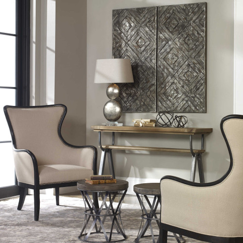 Roland Wood Wall Panel by Uttermost