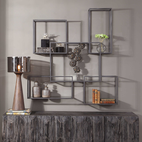 Quentin Metal Wall Shelf by Uttermost