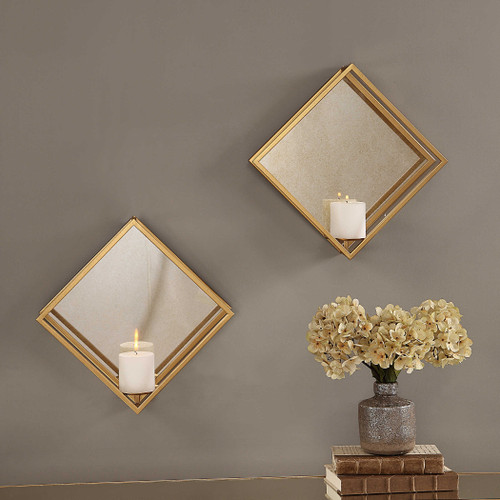 Zulia Candle Sconce S/2 by Uttermost
