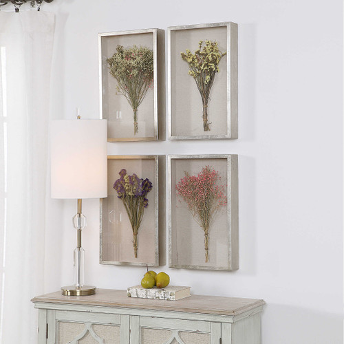 Summer Bouquets Shadow Box S/4 by Uttermost