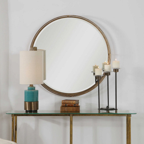 Cannon Round Mirror by Uttermost