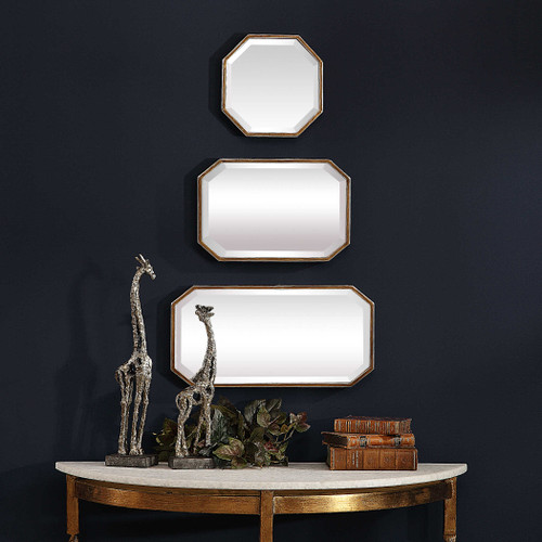 Trois Gold Mirrors S/3 by Uttermost