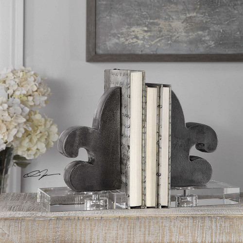 Lily Bookends S/2 by Uttermost