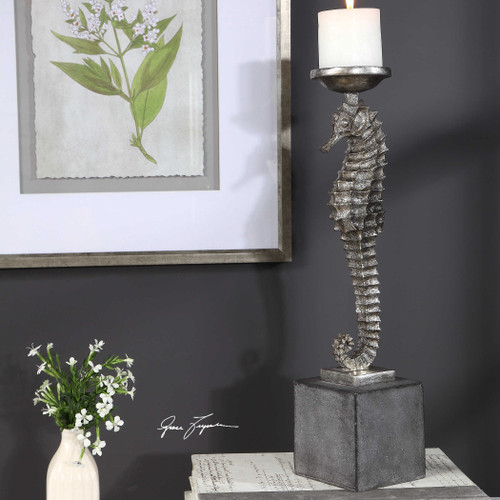Seahorse Candleholder by Uttermost