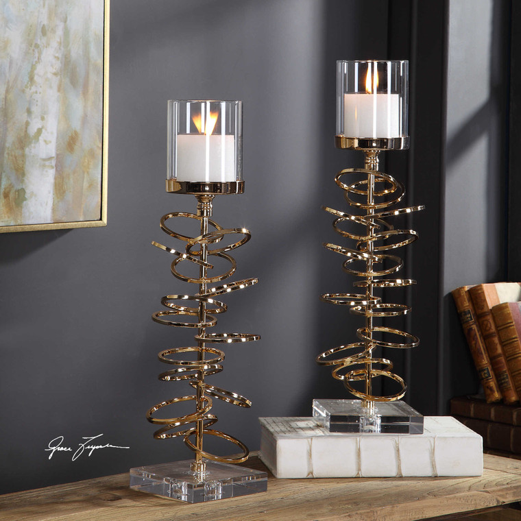 Tala Candleholders S/2 by Uttermost