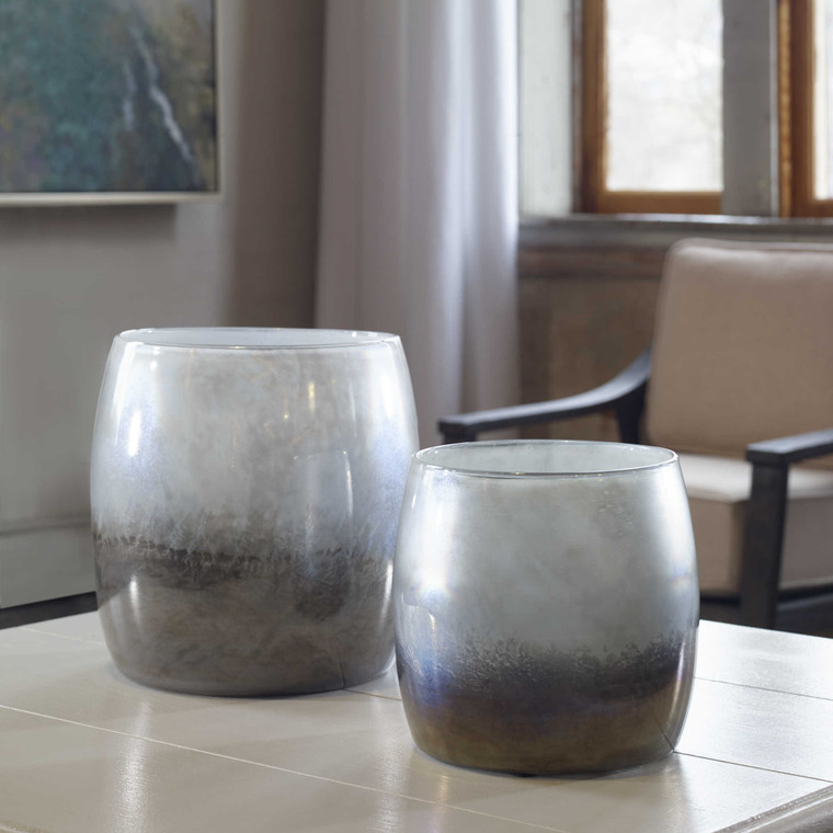 Tinley Blown Glass Bowls S/2 by Uttermost