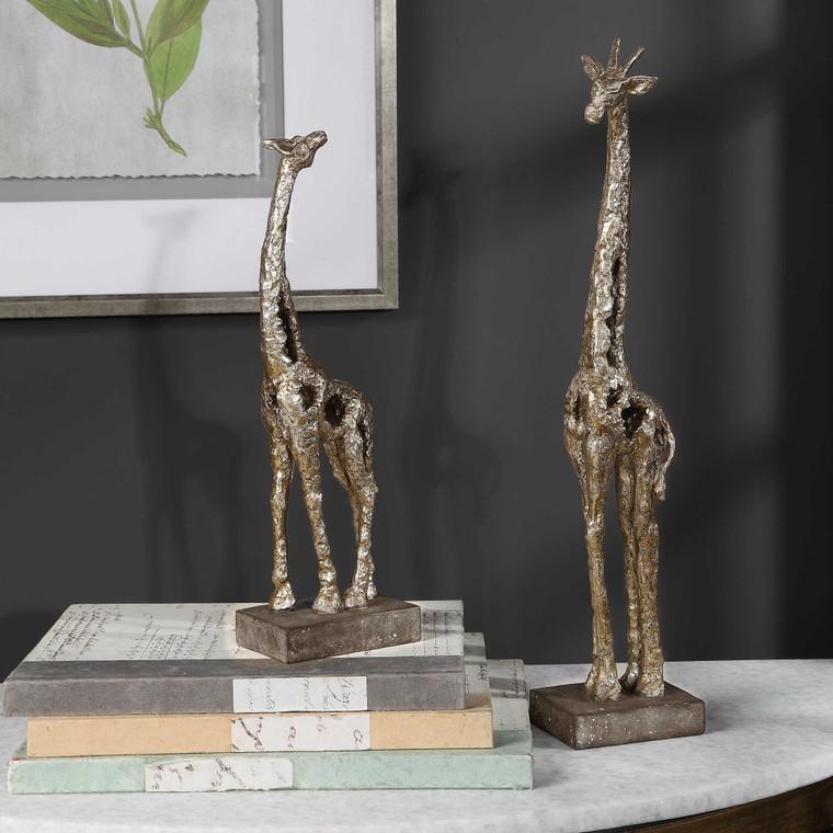 Masai Giraffe Figurines S/2 by Uttermost