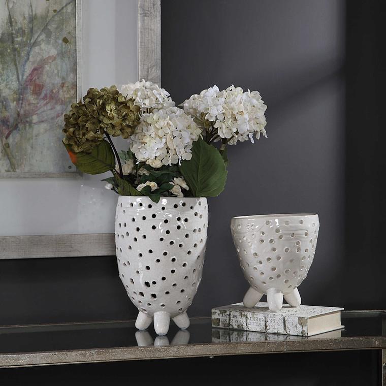 Milla Mid-Century Modern Vases S/2 by Uttermost