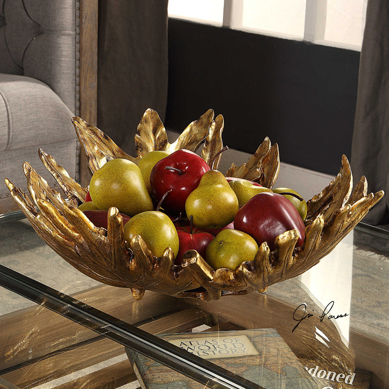 Oak Leaf Bowl by Uttermost