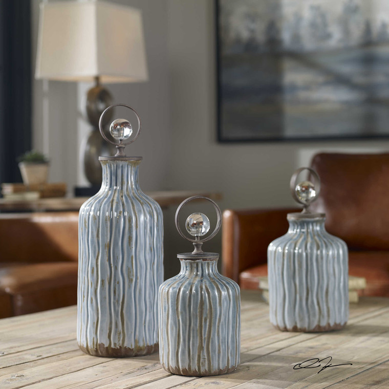 Mathias Bottles S/3 by Uttermost