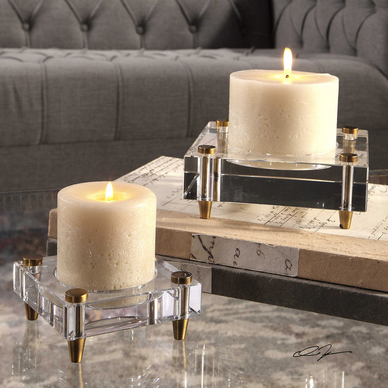 Claire Candleholders S/2 by Uttermost