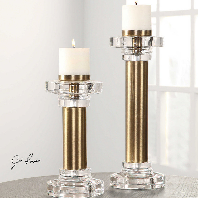 Leslie Candleholders S/2 by Uttermost