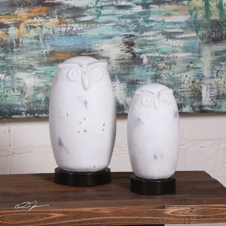 Hoot Figurines S/2 by Uttermost