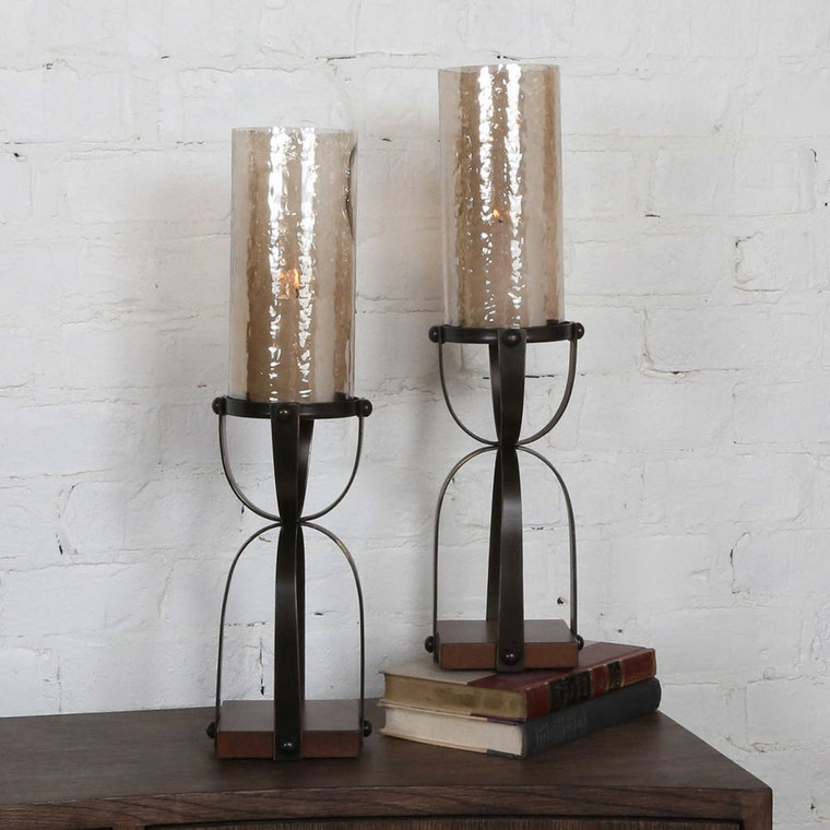 Arka Candleholders S/2 by Uttermost