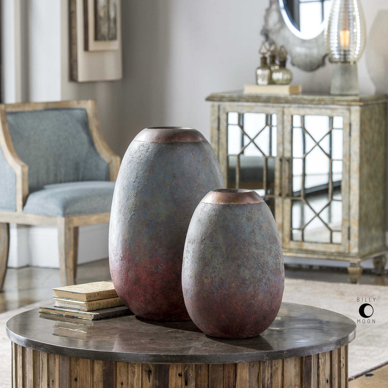 Pavak Vases S/2 by Uttermost