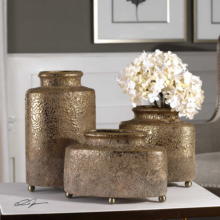 Kallie Vases S/3 by Uttermost