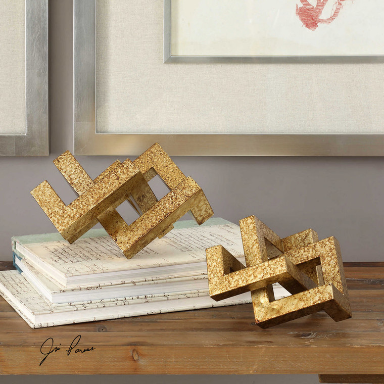 Ayan Sculpture S/2 by Uttermost