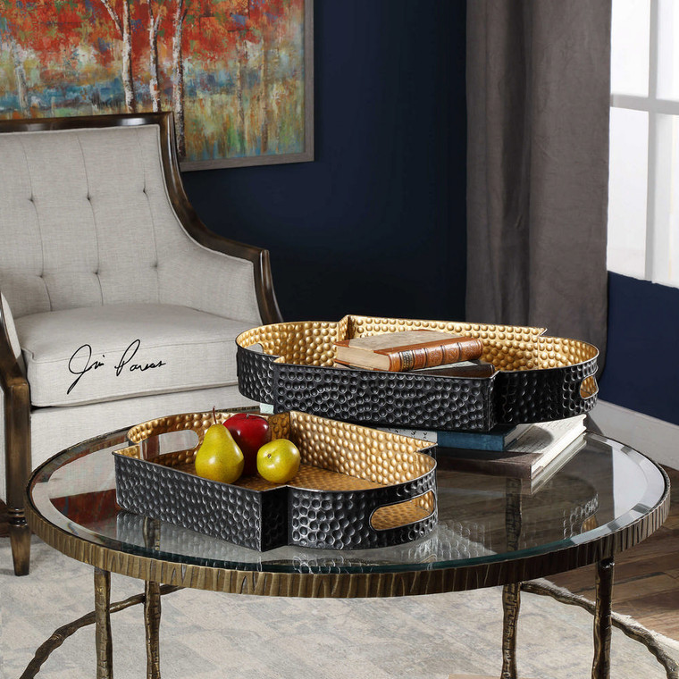Gatha Trays S/2 by Uttermost