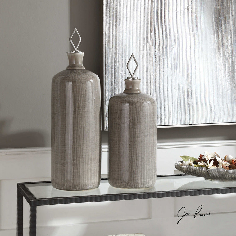 Dhara Bottles S/2 by Uttermost