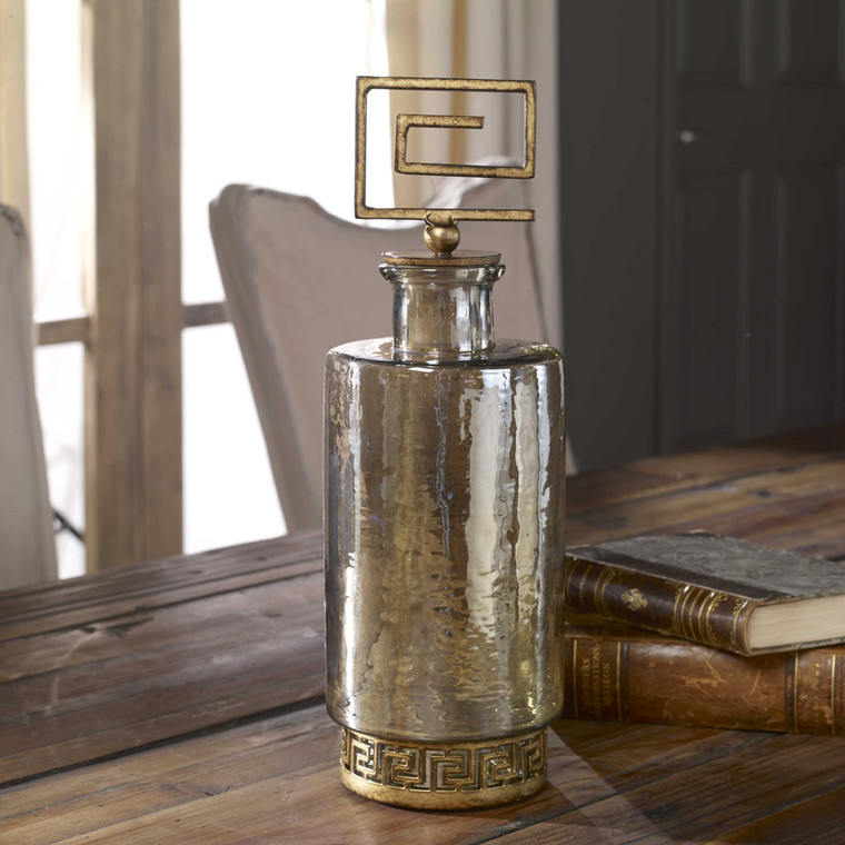 Neev Luster Glass Decanter by Uttermost