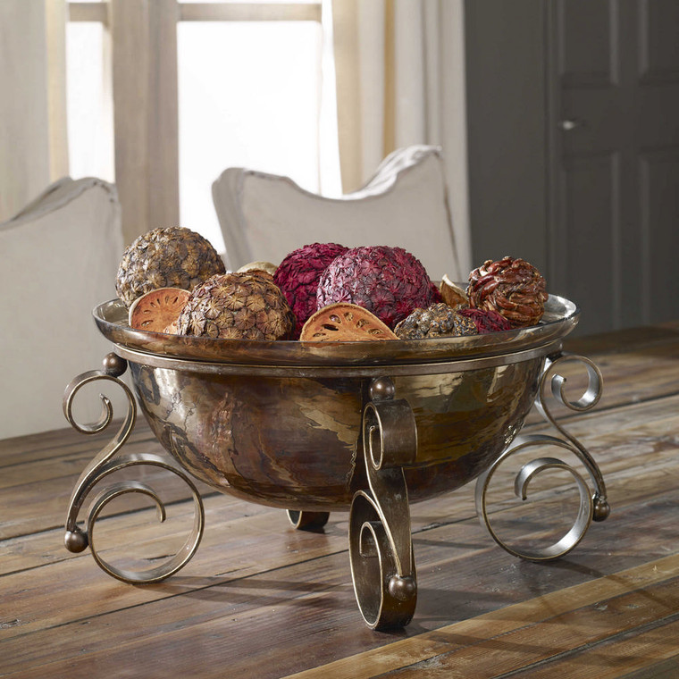 Alya Bronze Glass Bowl by Uttermost