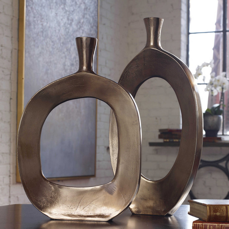 Kyler Vases S/2 by Uttermost