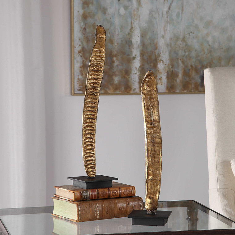 Poinciana Pod Sculptures S/2 by Uttermost