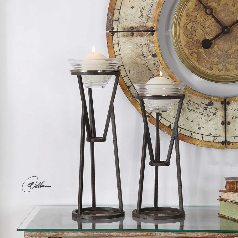 Lane Candleholders S/2 by Uttermost