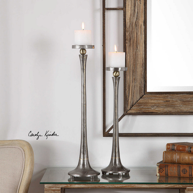 Aliso Candleholders S/2 by Uttermost