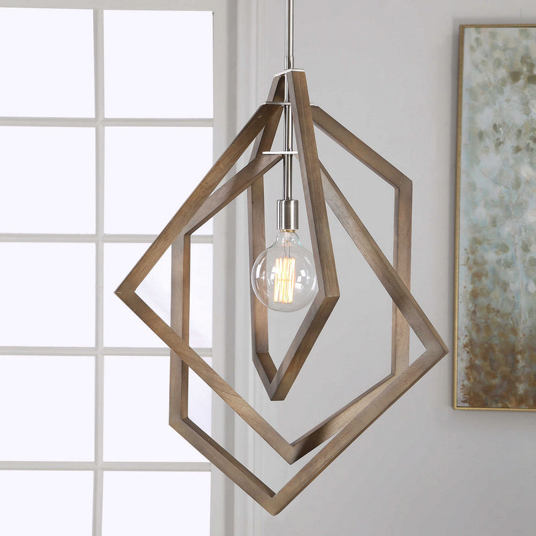 Elroy 1 Light Modern Pendant by Uttermost