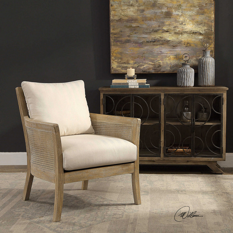 Encore Armchair Natural by Uttermost