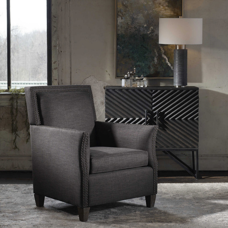 Darick Armchair Charcoal by Uttermost