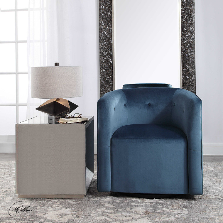 Mallorie Swivel Chair by Uttermost