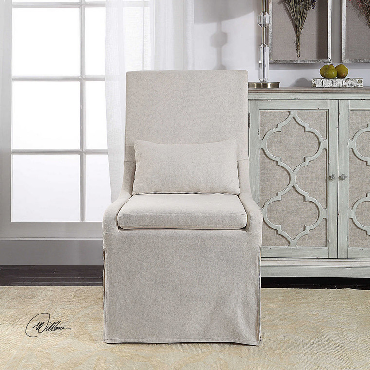 Coley Armless Chair by Uttermost
