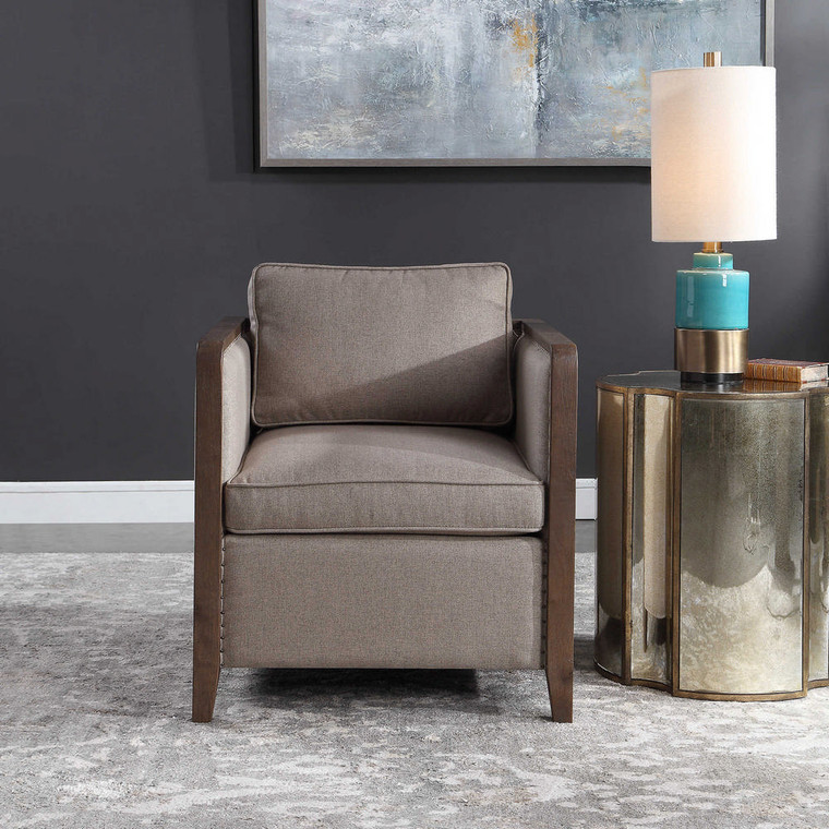 Ennis Contemporary Accent Chair by Uttermost