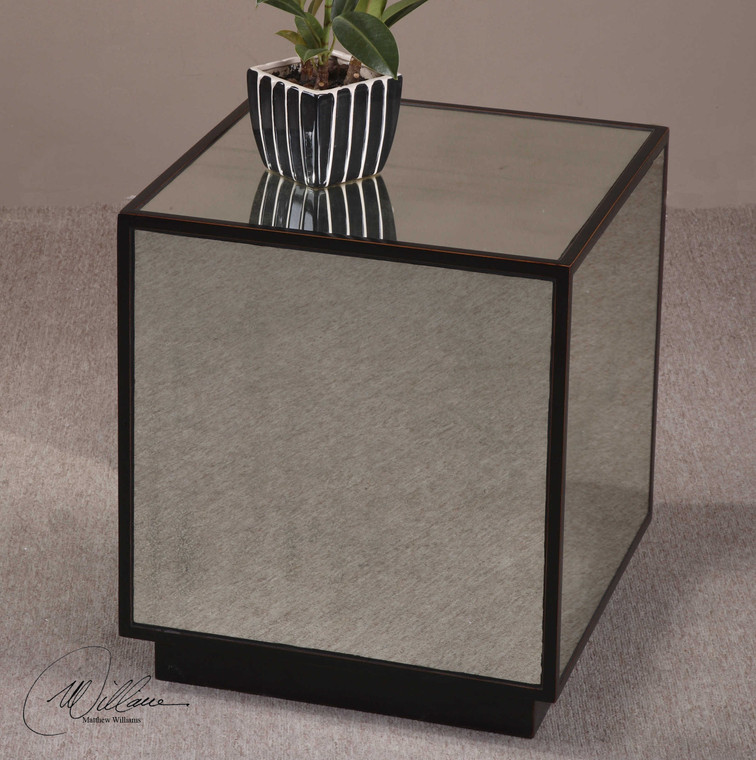 Matty Mirrored Cube by Uttermost