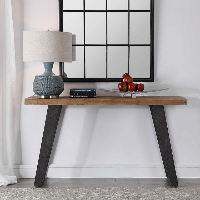 Freddy Weathered Console Table by Uttermost