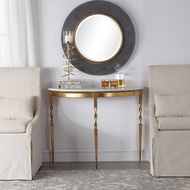 Imelda Demilune Console Table by Uttermost