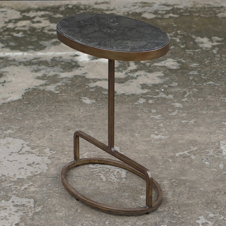 Jessenia Stone Accent Table by Uttermost