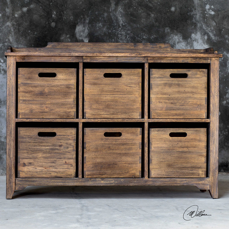 Ardusin Hobby Cupboard Driftwood by Uttermost