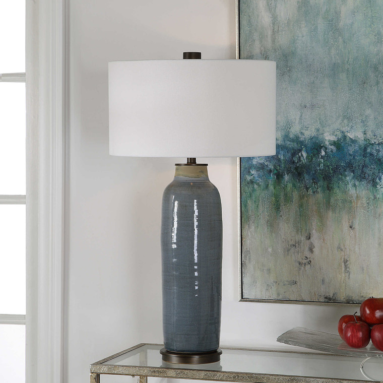 Vicente Slate Blue Table Lamp by Uttermost