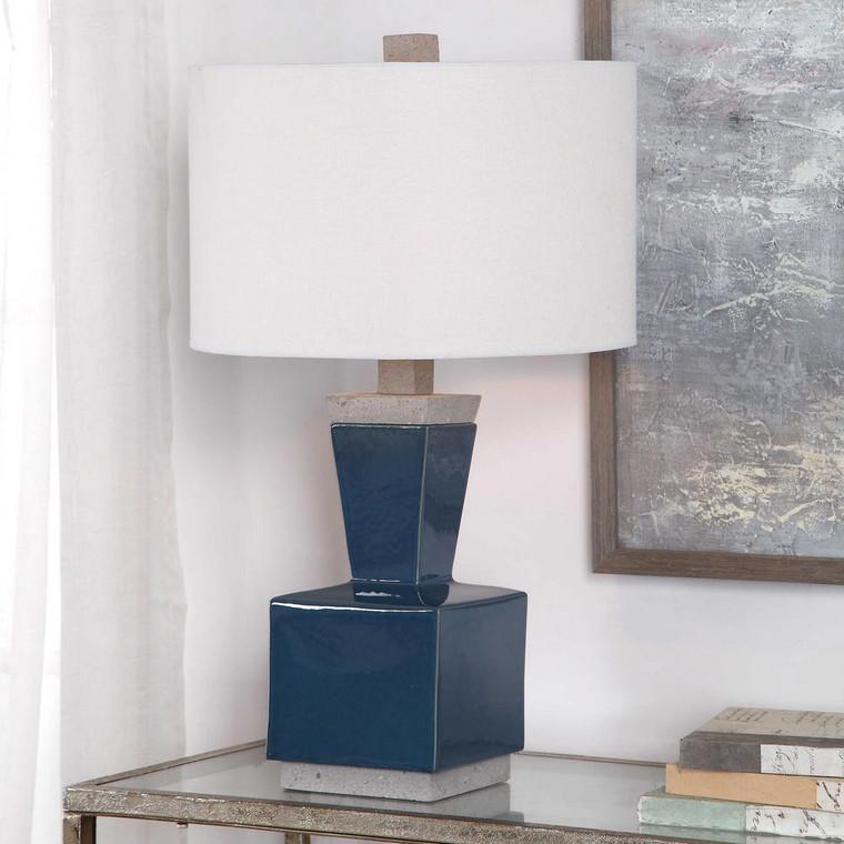 Jorris Blue Table Lamp by Uttermost