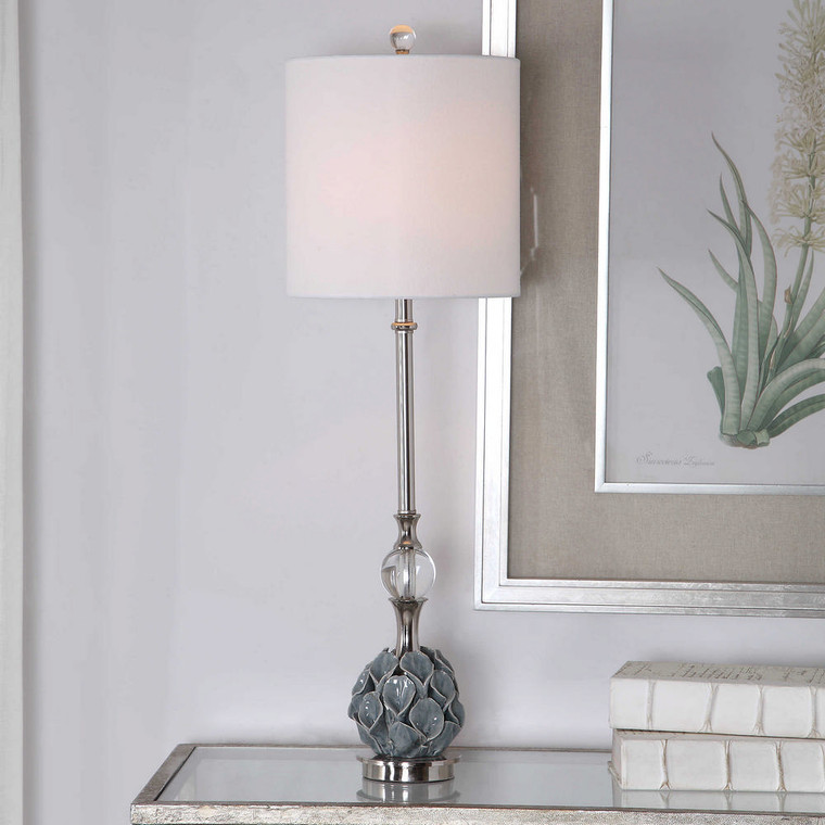 Elody Blue Gray Buffet Lamp by Uttermost