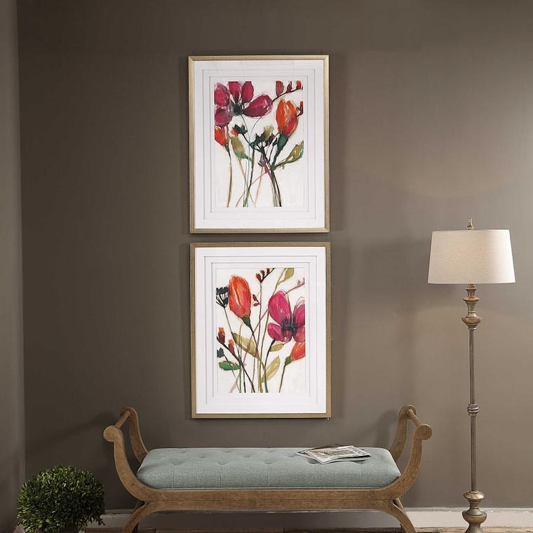 Vivid Arrangement Framed Prints S/2 by Uttermost