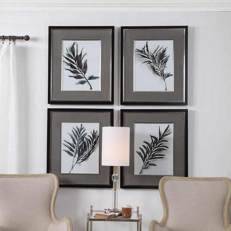 Eucalyptus Leaves Framed Prints S/4 by Uttermost