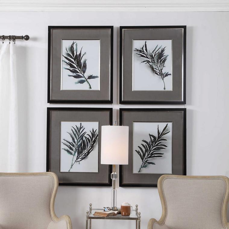 Eucalyptus Leaves Framed Prints S/4 by Uttermost
