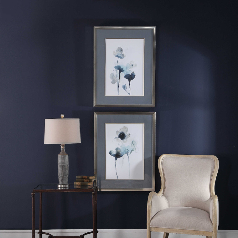 Midnight Blossoms Framed Prints S/2 by Uttermost