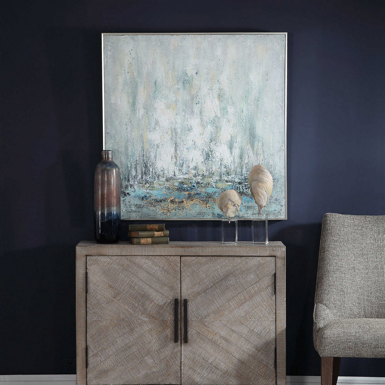 Ghost Ship Hand Painted Canvas by Uttermost