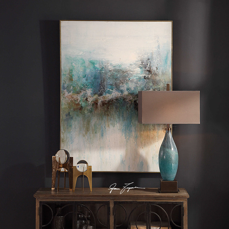 Mountain Top Hand Painted Canvas by Uttermost